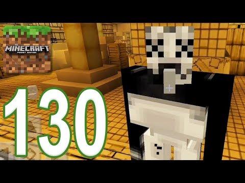 Minecraft: PE - Gameplay Walkthrough Part 130 - Bendy Game Horror 3 (iOS, Android)