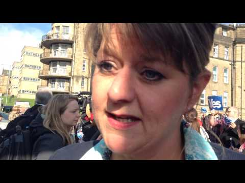 Leanne Wood in Glasgow
