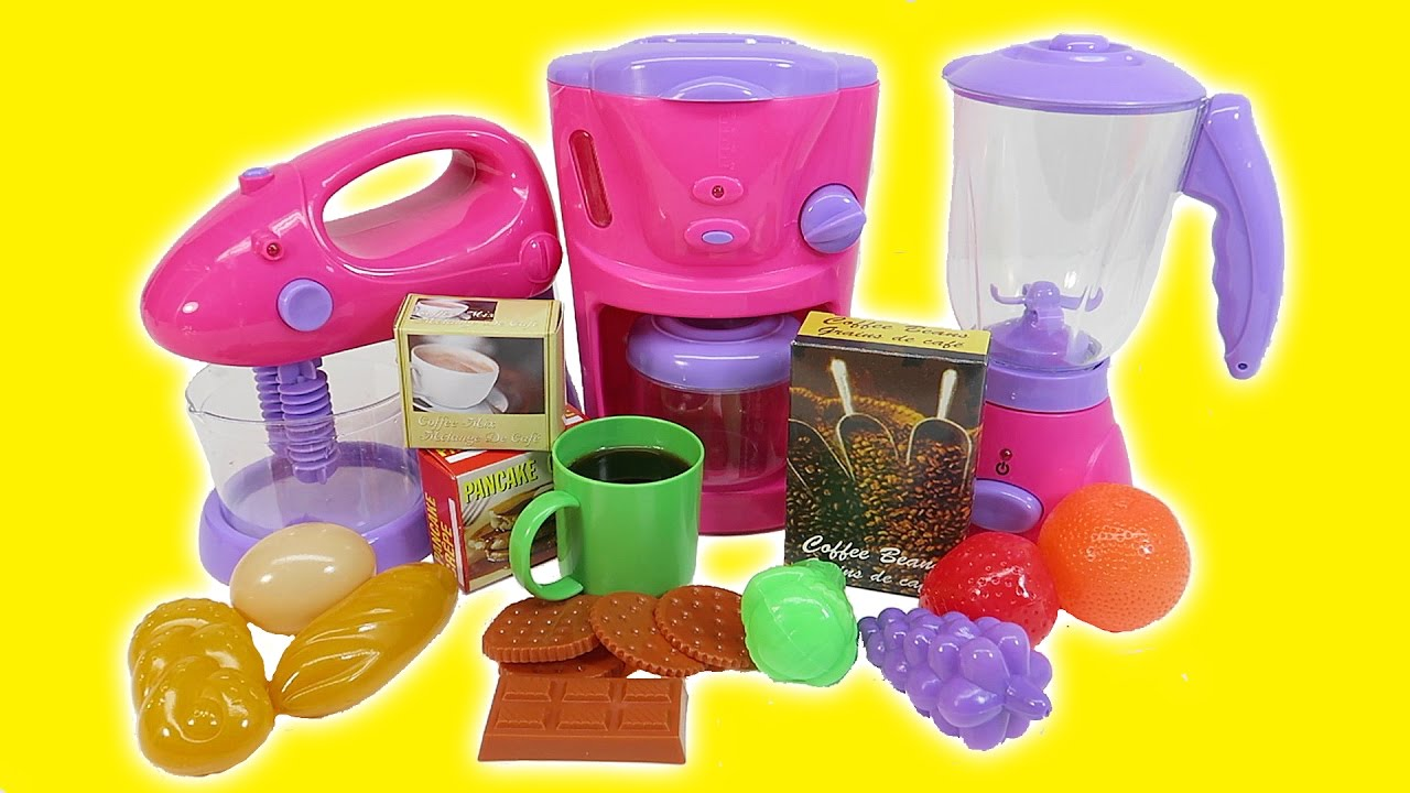 Kitchen Toys For Children Toy Kitchen Playset For Kids Coffee Maker Youtube