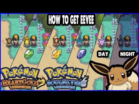 Pokemon HeartGold and SoulSilver - How to get Eevee & Evolve It!