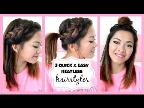 3 Quick & Easy Hairstyles for Short/Medium Length Hair!