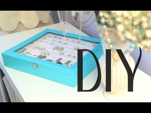 Diy Rings Amp Earrings Jewelry Display Box Organizer