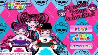 ♥  Monster Twins Babysitter  * Gameplay For Girls *  ♥