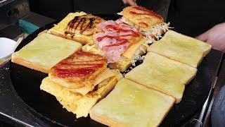 fast skill - potato korokke toast (コロッケ - 3,000KRW) / korean street food