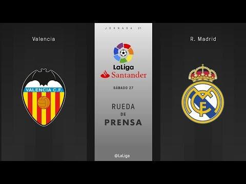Rueda de prensa Valencia vs R. Madrid