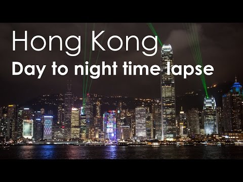 Hong Kong Victoria Harbour Day-to-Night Timelapse