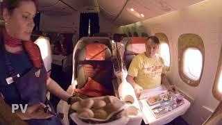 Смотреть видео Бизнес-класс авиакомпания Россия Москва\Петропавловск-Камчатский  В777 07 2019 онлайн