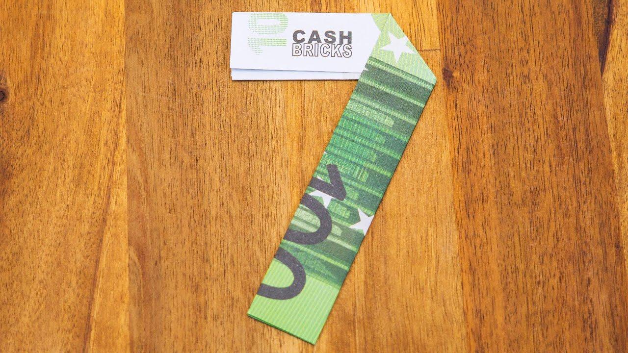 Zahl 7 Aus Geldscheinen Falten Origami Geldgeschenk Nummer 710