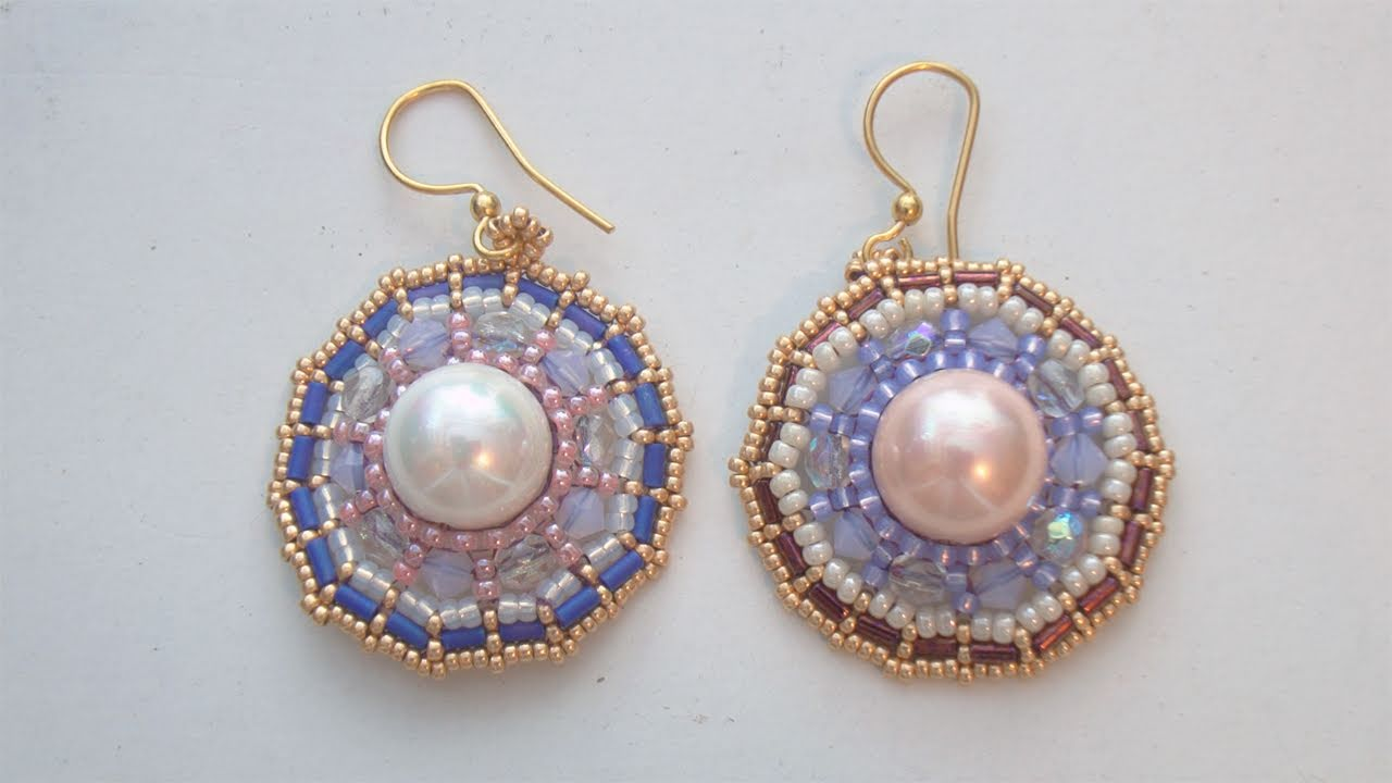 Beadsfriends Beaded Earrings Tutorial How To Make The Wheel Brick Sch You