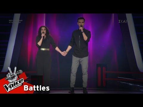 Λεμονιά Μπέζα vs Φώτης Παπαζήσης - Κοκκινο Γαρύφαλλο | 6o Battle | The Voice of Greece
