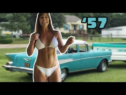 57 Chevy and 50 year old Farm Girl's drive. A classic car! Support- patreon.com/bansheemoon