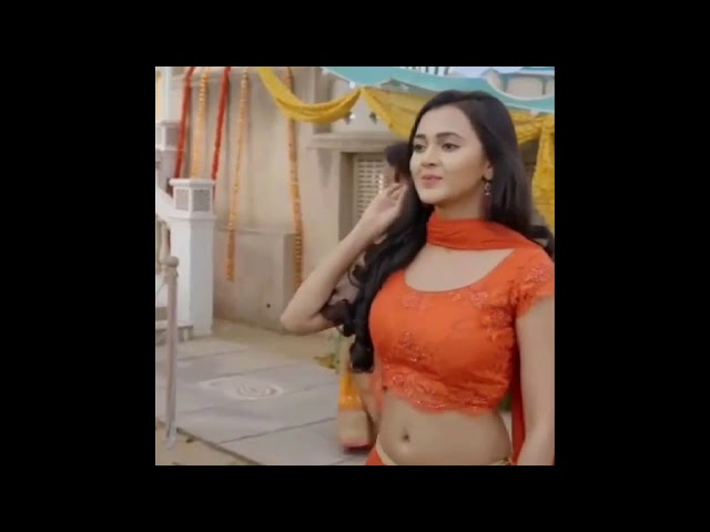 TV actress Tejaswini Prakash navel In Saree