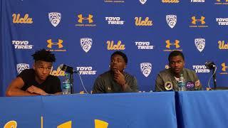 Jaylen Hands, Aaron Holiday, Kris Wiles after Utah win