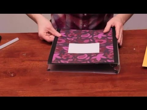 Decorating plastic binders arts crafts youtube for Fomic sheet decoration youtube