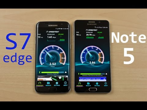 Samsung Galaxy S7 Edge (Exynos) Vs Samsung Note 5 - Speed Test Comparison Review (Curiosity Test)
