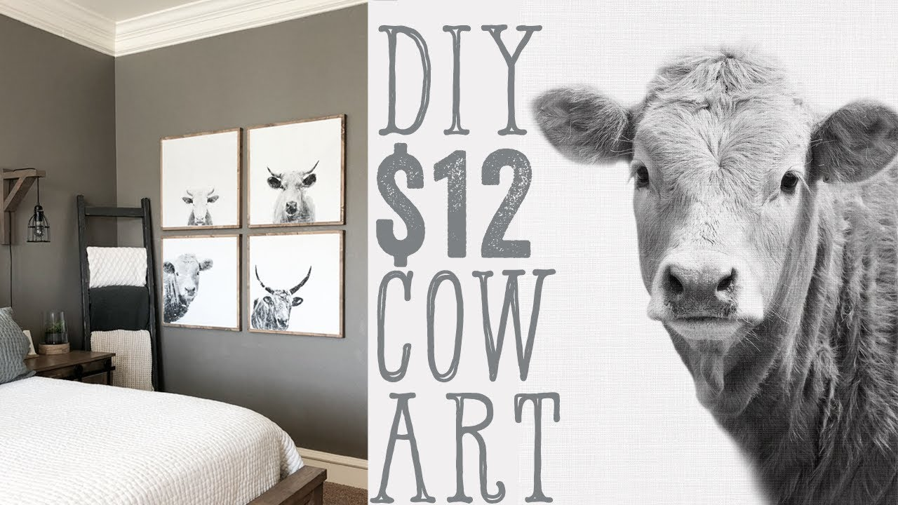 DIY Cow Wall Art for $12
