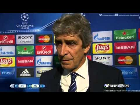 Real Madrid 1 0 Manchester City   Manuel Pellegrini Post Match Interview 04 05 2016