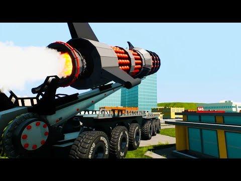 Massive Cluster Rocket Destroys New City - Brick Rigs Bricksville Update