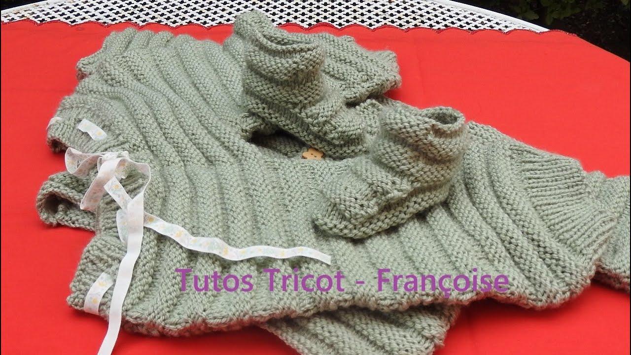 Tuto Tricot chaussons Bébé facile tailles 0/3 mois - 3/6 mois - 6/9 mois Rangs endroit et envers