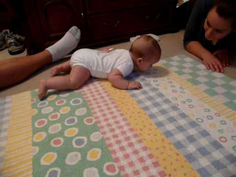 Beginning signs of crawling