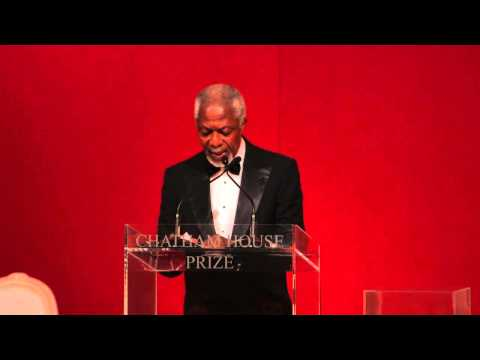 Chatham House Prize 2014: Remarks by Kofi Annan