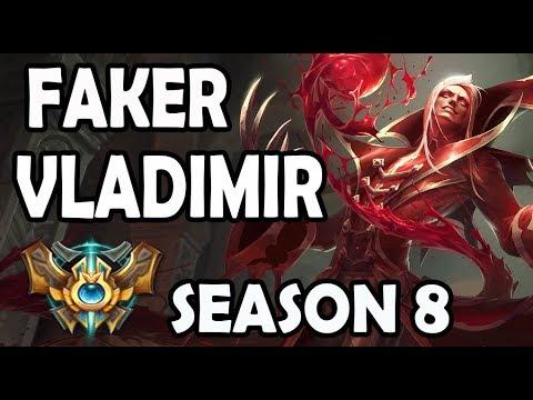 SKT T1 Faker Vladimir vs Zoe - Ranked Placement Match #1 *Season 8*