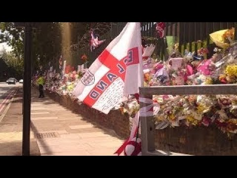 All the tributes left for Lee Rigby, 04 2017. Woolwich, London UK. R.I.P.