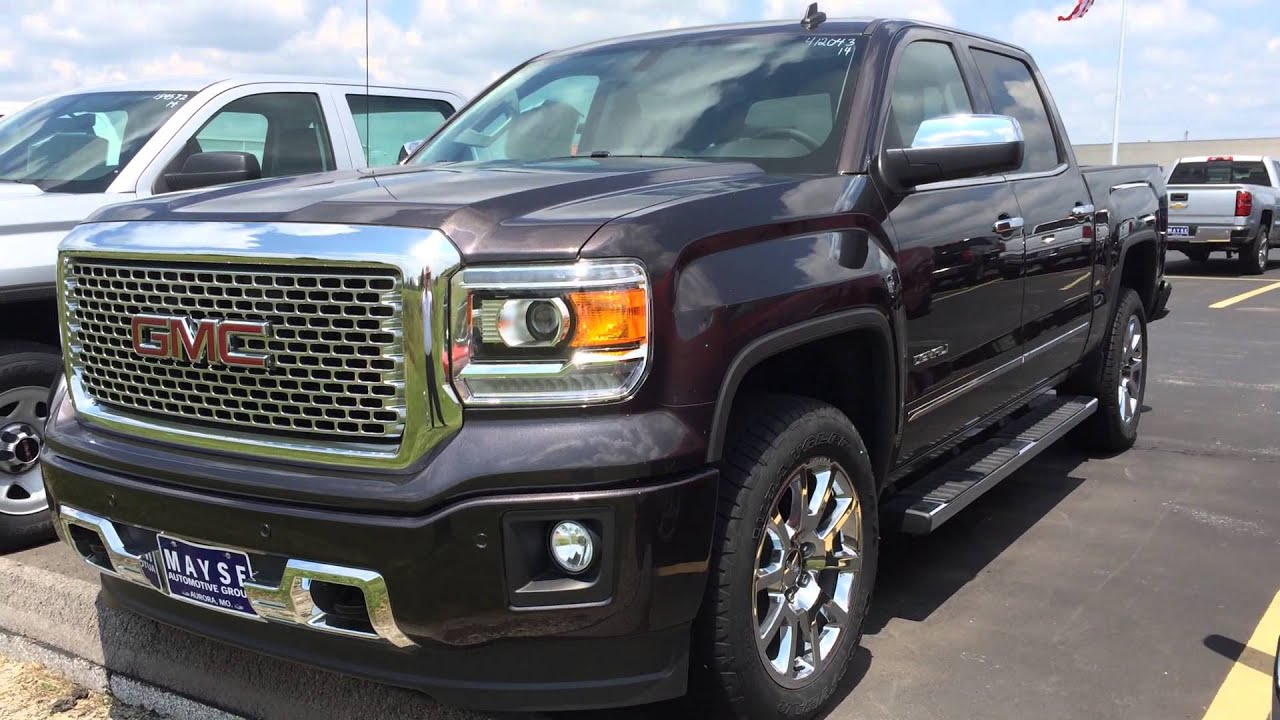 Iridium 2014 gmc sierra denali at mayse automotive near for Mayse motors aurora mo