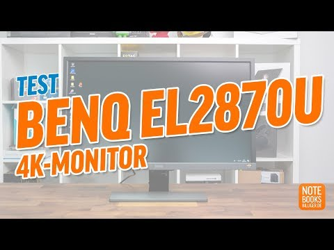 BenQ EL2870U 4K-Monitor Test - Deutsch / German ►► notebooksbilliger.de