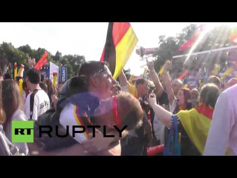 Germany: Berliners Go CRAZY After 4-0 World Cup Win Against Portugal