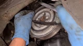 how to fix replace drive belt on Fiat Panda Full HD 1080p