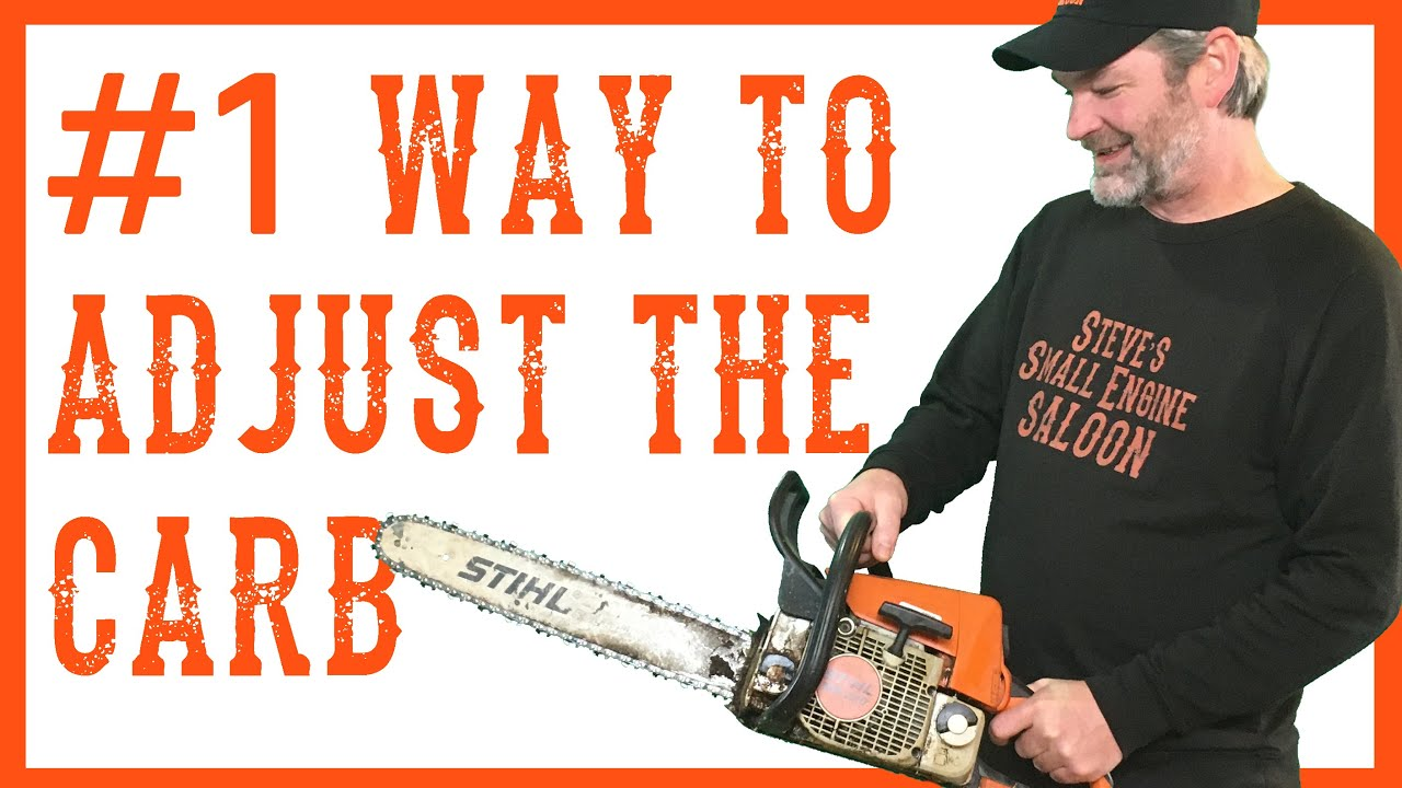 How To Adjust Or Tune The Carburetor On A Chainsaw Video Youtube Husqvarna 36 Wire Diagram