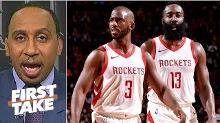 Blame Chris Paul, Mike DAntoni for James Hardens unhappiness - Stephen A. | First Take