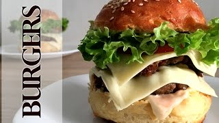 Идеальный Бургер видео-рецепт. Булочка для бургера. Як зробити котлету для бургера.
