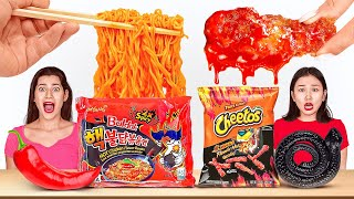 SPICY VS SWEET VS SOUR FOOD CHALLENGE  Fire Spicy Noodles! TikTok Food Tricks By 123 GO! CHALLENGE