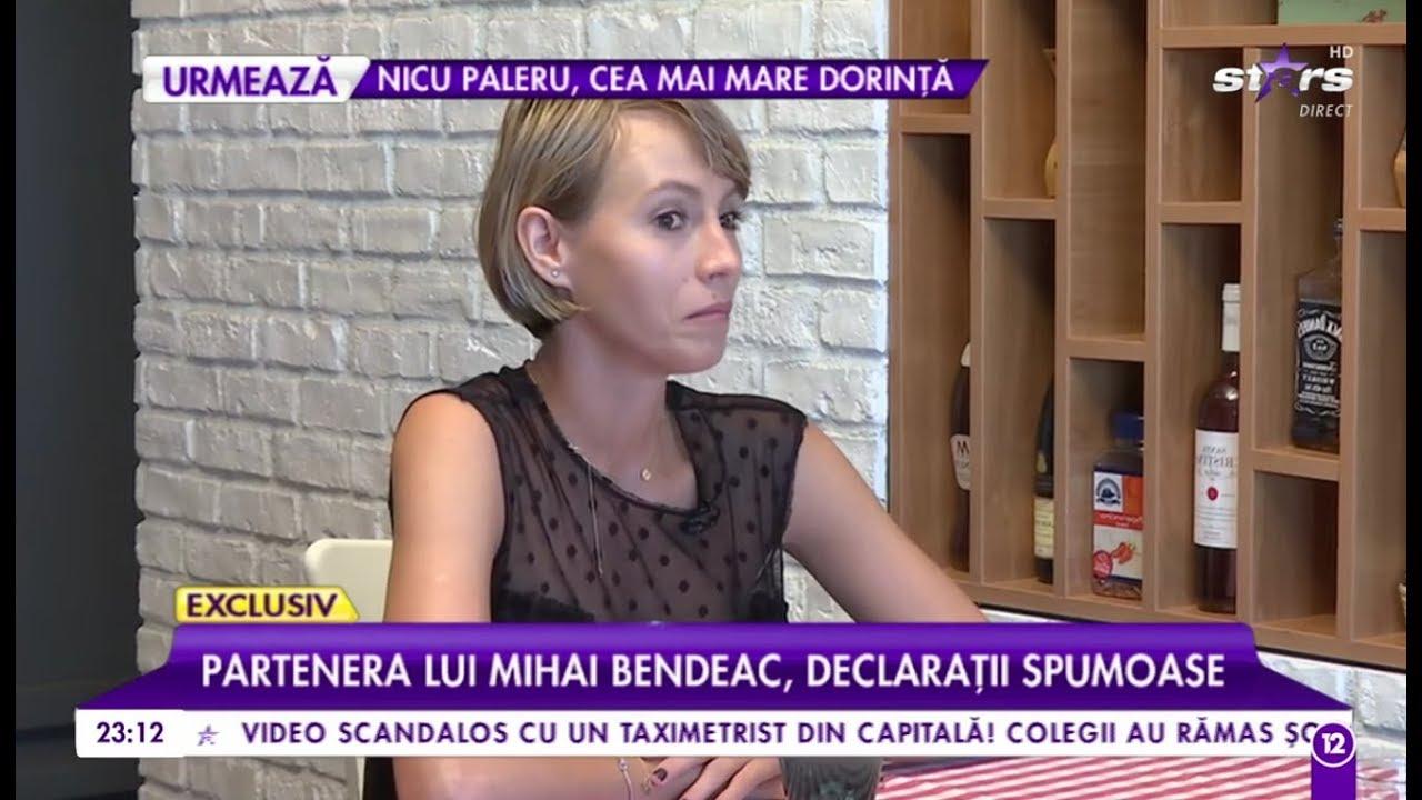 """""""Partenera"""" lui Mihai Bendeac, declarații spumoase: """"Am fost pe val, iar dintr-o dată ..."""