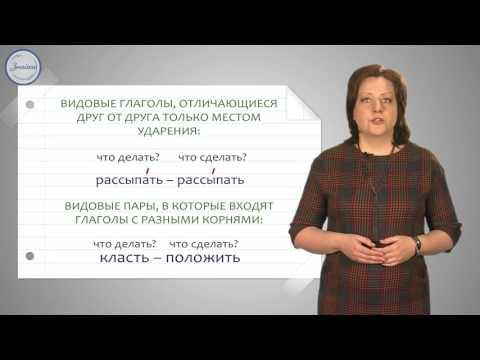 Как определить вид глагола в русском языке