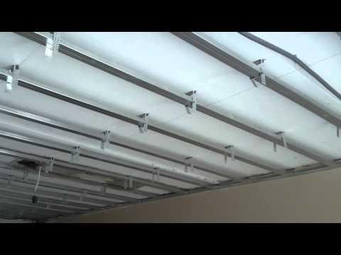 видео: Оптимальный монтаж гипсокартона. gypsum ceiling. Потолок # 14.