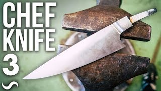 MAKING A CHEF'S KNIFE!!! PART 3