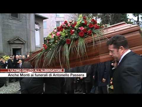 Etg - Anche Mario Monti ai funerali di Antonello Passera