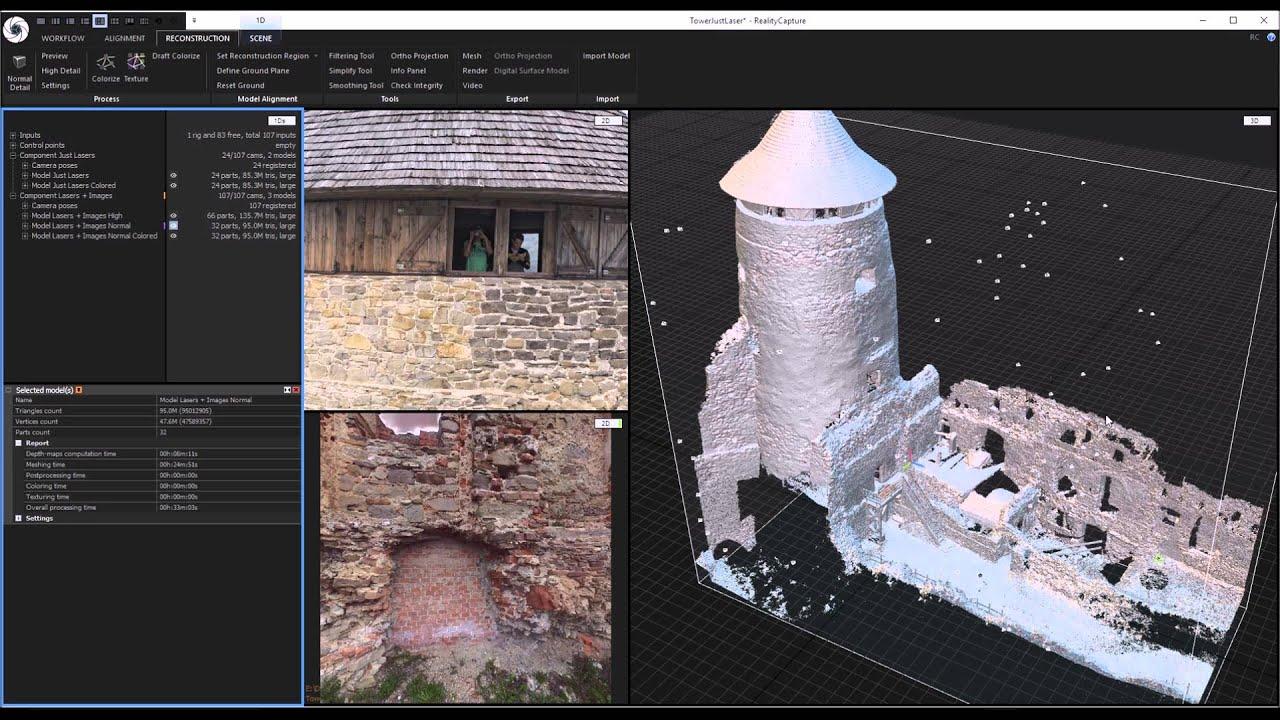 realitycapture making a 3d model from photos and laser
