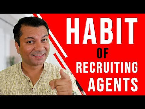 How to develop HABIT of Recruiting Agents ? [ HINDI ]