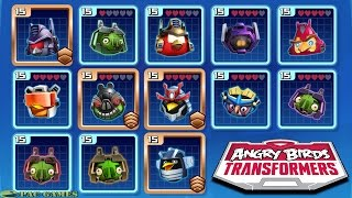 Angry Birds Transformers: All New Characters Unlocked