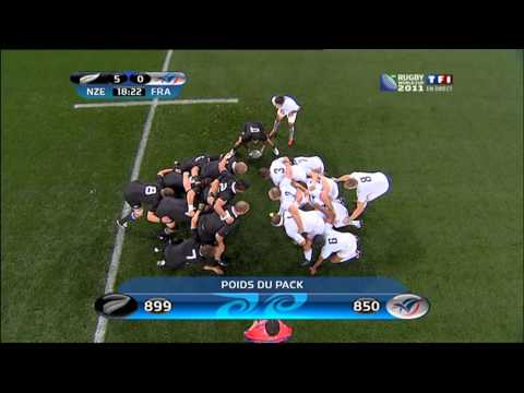 final All blacks vs France rugby world cup new zealand 2011. first halftime