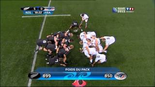final All blacks vs France rugby world cup new zealand 2011. first half-time