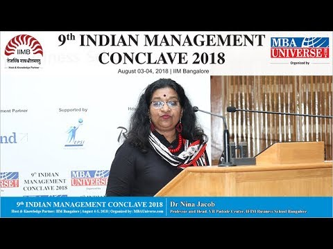 Dr Nina Jacob, Professor, IFIM Business School Bangalore (IMC Awards)