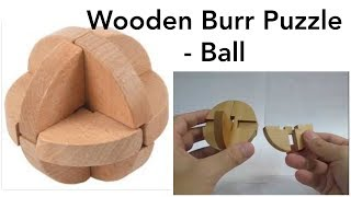 Burr Puzzle (wooden Ball) - Solution