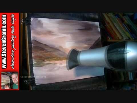 Watercolor Painting Tutorial Loch Achtriochtan, Glencoe, Scotland Part 1 of 2