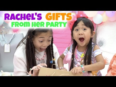 Rachel's Gifts from Her Party