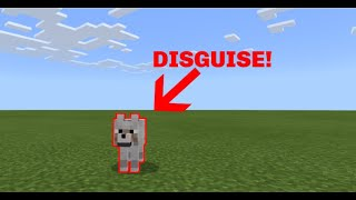 HOW TO MORPH INTO ANY ANIMAL IN POCKET EDITION MINECRAFT